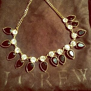 JCrew Black and Rhinestone Necklace